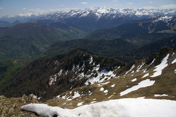 Les pentes Est du Pic de Cagire et la vallée du Ger