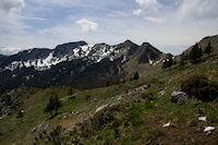 La jolie crete ente le Sommet de Parets et le Pic de l'Escalette depuis le Col de Coume Ossan