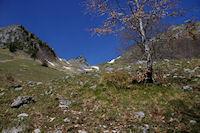 Le Col du Pas de l'Ane encombre par un neve!