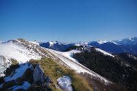 Le Cap de Salieres et plus loin, le Mont Valier depuis le Cap de la Pique de Plas