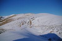 La crete menant au Sommet d'Antenac depuis le Cap de la Pique de Plas