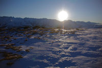 Coucher de soleil sur le Luchonnais