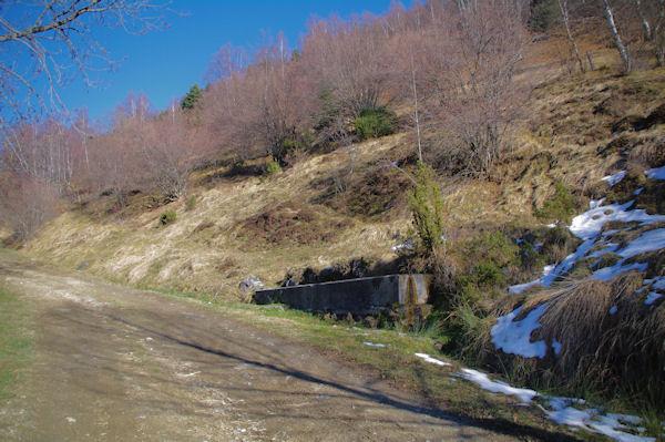Un abreuvoir en montant vers le Bois d_Artigue