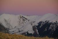Pic de Burat, Pic de Bassioues et Pic de Bacanere au coucher du soleil