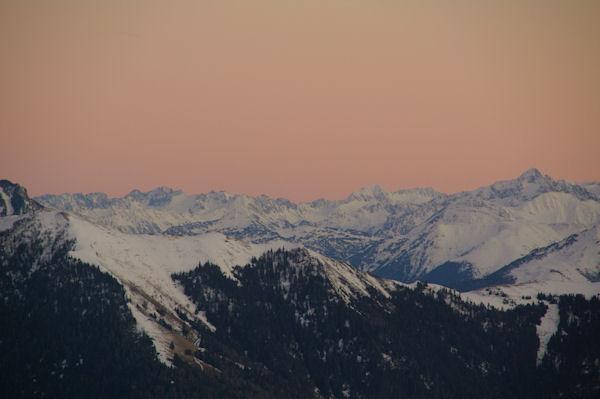 Coucher de soleil sur les Pyrénées
