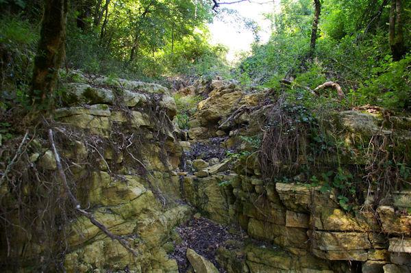 Erosion près du Château de la Nine