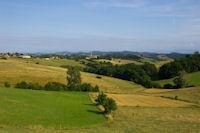 Le vallon du ruisseau d'Estansan depuis la D48