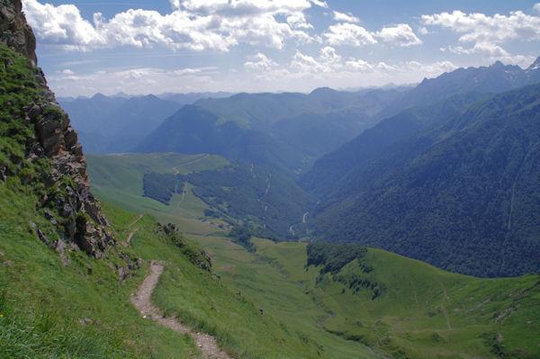 La vallée du Lis depuis Templa
