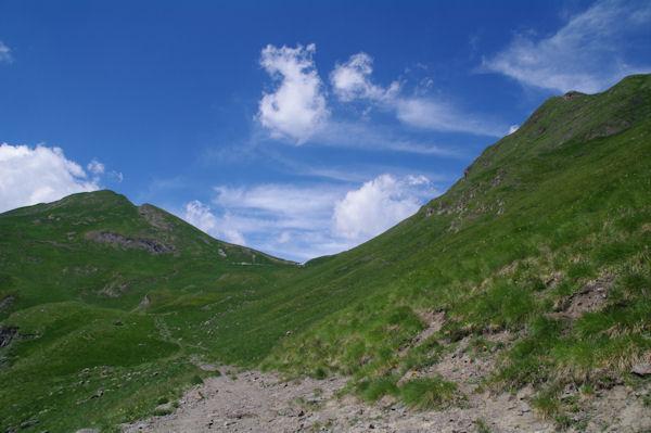 La Coume de Bourg en vue, à gauche, le Pic de Subescale