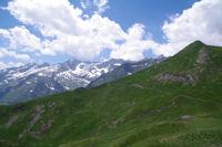 Le Pic de Subescale, au fond, le Pic de Boum, le Pic de Maupas et le Pic des Crabioules