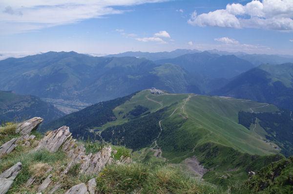 Superbagnères depuis le sommet du Pic de Céciré