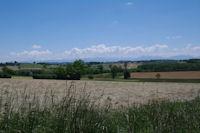 Vue sur le Pyrenees depuis Montgaillard sur Save