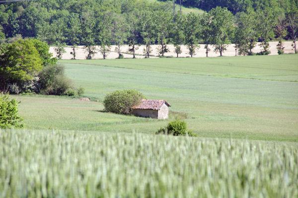 Une cabane à Nougué depuis Landery