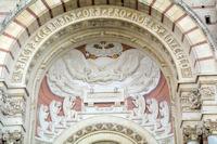 Le tympan de la basilique Ste Germaine de Pibrac