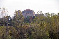 La basilique Ste Germaine de Pibrac depuis la D37
