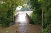 Le pont sur l'Aussonnelle en bas de Cornebarrieu