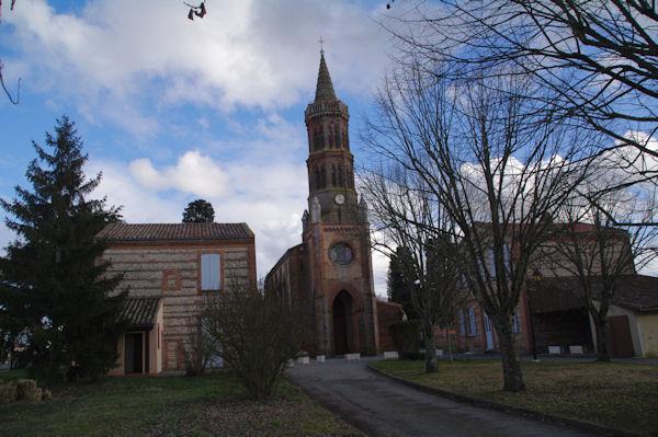 L_église de Montbrun Lauragais