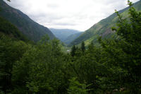 Le Val d'Astau depuis les premiers lacet du chemin montant au lac d'Oo