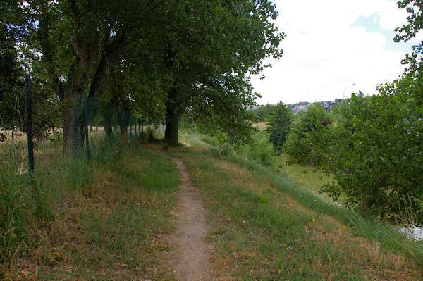 Le chemin au bord de l_Hers, juste après le Pont de Balma