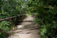 Le pont sur la Saune entre Rival et Salsas