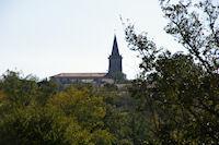 L'eglise de Rieumes depuis la chapelle Lormette