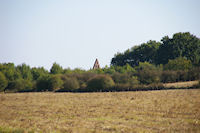 Le clocher de la chapelle Lormette depuis Esquirol