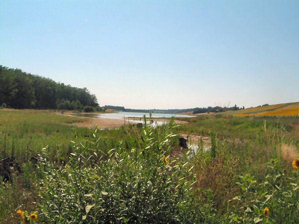 Lac du Laragou, extrémité est