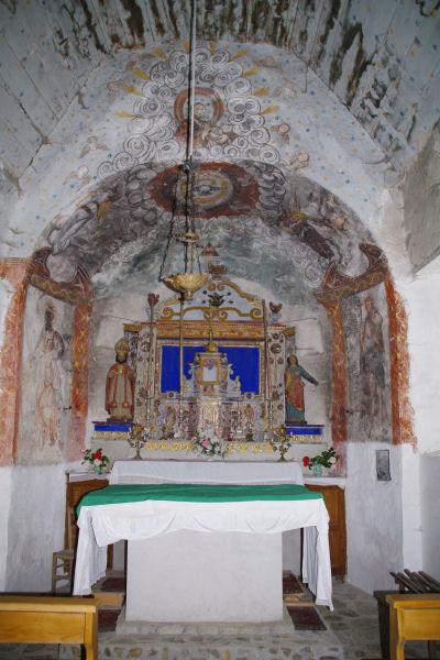 Fresques dans l_Eglise de Benqué Dessous
