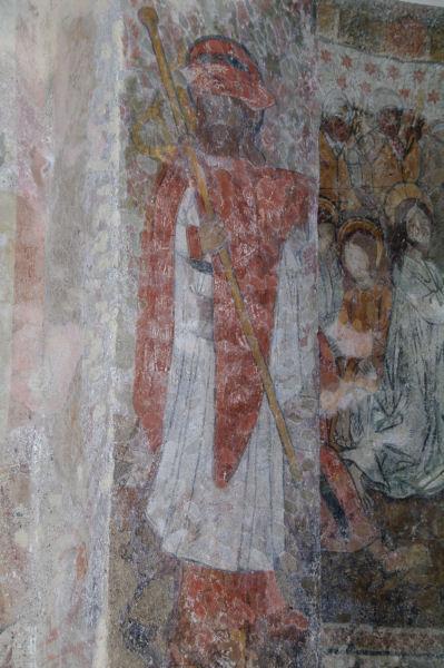 Fresques dans l_Eglise de Benqué Dessus