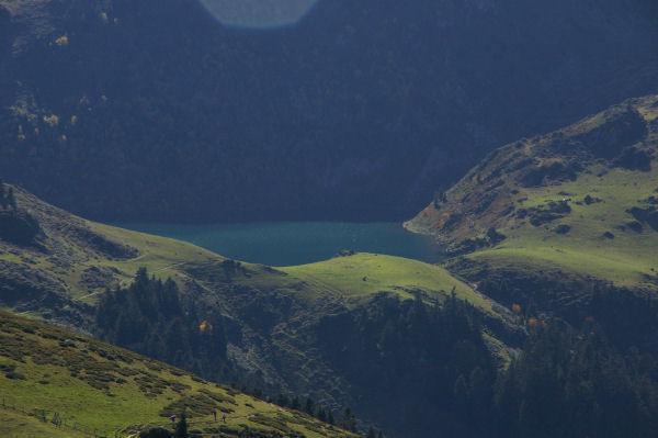 Vue du lac de Bareilles ou de Bordères