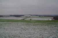 La plaine de la commune de Pouze depuis La Madelaine