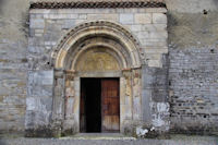 Le tympan de la basilique St Just de Valcabrere