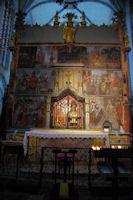 L_autel derrière le caveau des reliques de St Bertrand de Comminges