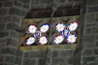 Détail d_un vitrail de la cathédrale St Bertrand de Comminges