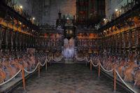 Les stalles dans la cathedrale St Bertrand de Comminges