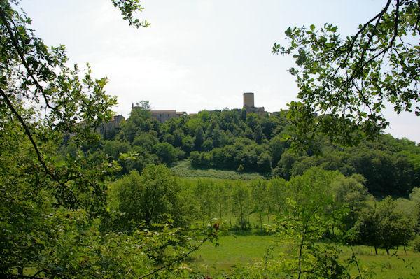 Aurignac, en descendant dans le vallon du ruisseau de la Bourdette