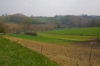 Le vallon du ruisseau d'Auban depuis La Metairie sur la D48b