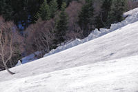 Coulee de neige provenant de la crete de Techouede
