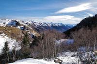 La vallée d_Oueil depuis le haut du vallon du ruisseau de Hité