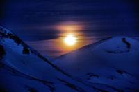 Coucher de lune entre le Sommet de Pouy Louby et le Pic du Lion