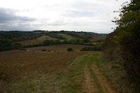La vallee du ruisseau de Saverette depuis La Tourasse