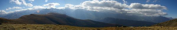 Panorama au sud du Pic du Lion