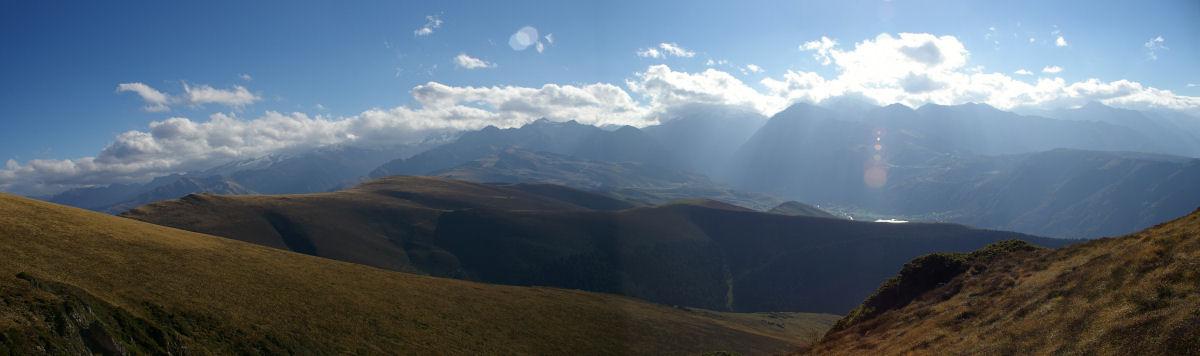 Panorama sur la vallée du Louron