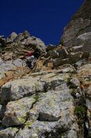 La premiere cheminee menant au Pic des Spijeoles