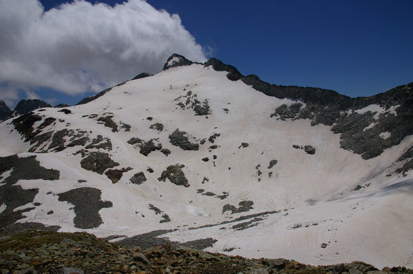 Le glacier et les Pics du Seil de la Baque