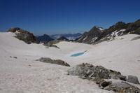 Le premier laquet depuis le glacier des Gourgs Blancs