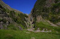 Les gorges du torent de Caillauas avant d'arriver au refuge de la Soula
