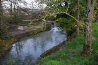 La retenue d'eau en amont du moulin de Nagen