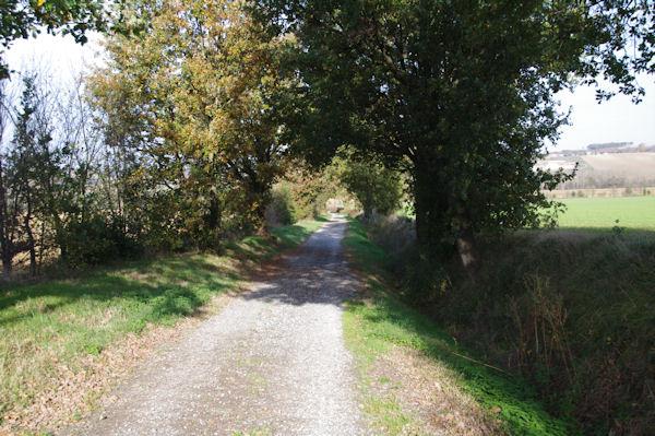 Le chemin menant à la vallée du Girou