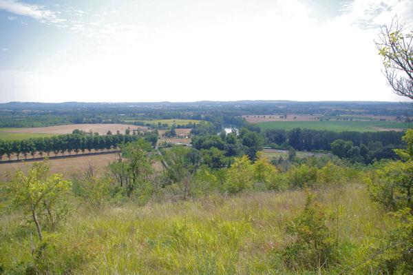 La vallée du Tarn depuis La Garrigue